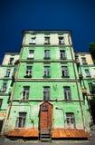 Gammalt hus i Kyiv Arkivfoton