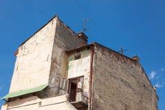 Gammalt hus i Lviv arkivfoton