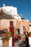 Gammalt hus i Oia, Santorini Royaltyfri Fotografi