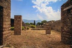 Gammalt hus i Pompei Royaltyfri Foto