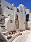 Gammalt hus i Santorini Royaltyfria Bilder