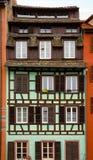 Gammalt hus i Strasbourg Arkivbilder