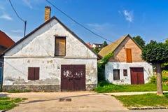 Gammalt hus i Szekszard Arkivbild