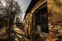 Gammalt hus i Tjeckien Arkivbilder