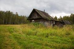 Gammalt hus i träna Royaltyfri Bild