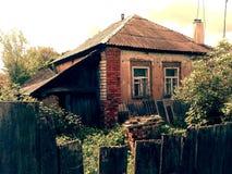 Gammalt hus i Ukraina Royaltyfri Bild