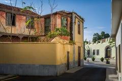 Gammalt hus La Orotava för historisk mitt Fotografering för Bildbyråer