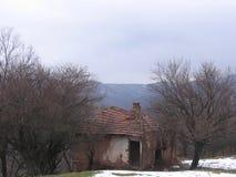 Gammalt hus nära Grza Royaltyfri Bild