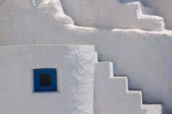 Gammalt hus på den Santorini ön, Grekland Royaltyfri Foto