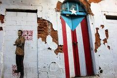 Gammalt hus San Juan Old City Arkivfoton