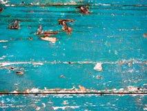 Gammalt indigoblått fartygträ Arkivbilder