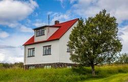 Gammalt isländskt hus Royaltyfri Fotografi