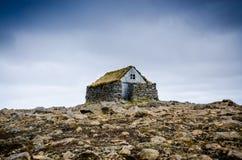 Gammalt isländskt hus Arkivfoton