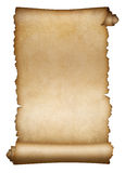 Gammalt isolerade snirkelpergament eller papper Royaltyfria Foton