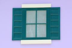 Gammalt italienskt fönsterhus Arkivbild