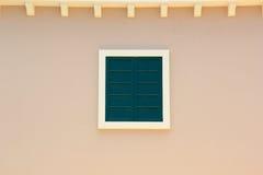 Gammalt italienskt fönsterhus Arkivbilder