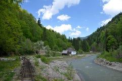 Gammalt järnväg landskap Royaltyfri Foto