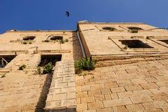 Gammalt Jaffa hus Arkivfoto