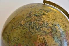 Gammalt jordklot Europa Arkivbilder