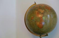 Gammalt jordklot som kan se Afrika Royaltyfria Bilder