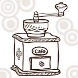 Gammalt kaffe mal Arkivbilder