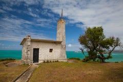Gammalt kapell på den Magdalena peninusulaen i Santander, Spanien royaltyfri fotografi