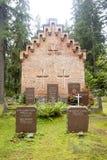 Gammalt kapell på den Wrede familjkyrkogården 4 September 2018 - Anjala, Kouvola, Finland arkivbild