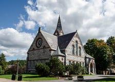 Gammalt kapell UMass Amherst arkivbild