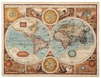 Gammalt kartlägga (1626) royaltyfri bild