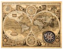 Gammalt kartlägga (1626) arkivfoton