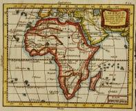 Gammalt kartlägga av Afrika Royaltyfria Foton