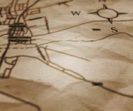 Gammalt kartlägga bakgrund Royaltyfri Fotografi