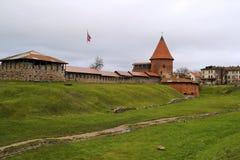Gammalt Kaunas slott Royaltyfria Bilder