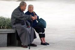 Gammalt kinesiskt folk Fotografering för Bildbyråer