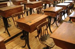 gammalt klassrum 2 Arkivbild