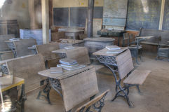 gammalt klassrum Fotografering för Bildbyråer