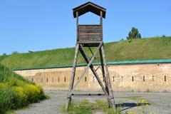 Gammalt klockatorn i den Kyiv fästningen (Ukraina) Arkivfoton