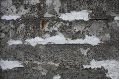Gammalt konkret staket Arkivbilder