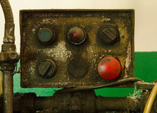 Gammalt kontrollmaskineri Royaltyfri Bild