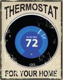 Gammalt kort med en termostat Royaltyfri Bild
