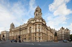 Gammalt kriga kontorsbyggnad, Whitehall, London, UK arkivfoto
