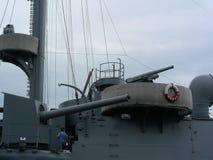 Gammalt kryssaremuseum för vapen Royaltyfri Fotografi