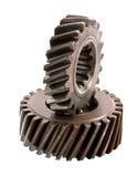 Gammalt kugghjul för metalldelar Arkivbilder