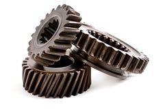 Gammalt kugghjul för metalldelar Royaltyfri Bild