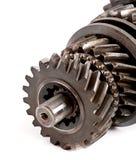 Gammalt kugghjul för metalldelar Royaltyfri Foto