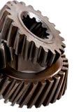 Gammalt kugghjul för metalldelar Royaltyfria Bilder