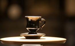 Gammalt kupa av kaffe Fotografering för Bildbyråer