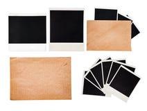 Gammalt kuvert med ögonblickliga foto, set Royaltyfri Foto