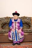 gammalt kvinnaår för asiatisk nittio Arkivbild