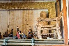 Gammalt kyrkligt konstverk Arkivfoto